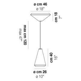 Withwhite SP 46 M - Vistosi - lampa wisząca