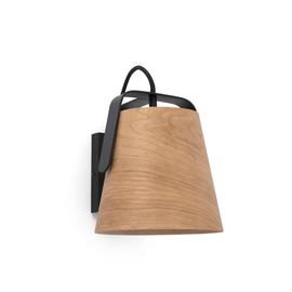Stood Ø22 czarny, drewno - Faro - lampa ścienna