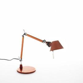 Tolomeo Micro H37 aluminium, pomarańczowy - Artemide - lampa biurkowa
