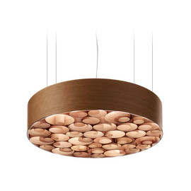 Spiro Ø75 drewno wiśniowe - Luzifer LZF - lampa wisząca