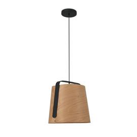 Stood Ø50 czarny, drewno - Faro - lampa wisząca