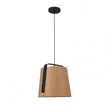 Stood Ø50 czarny, drewno - Faro - lampa wisząca - 29848 - tanio - promocja - sklep