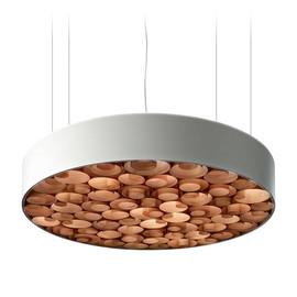 Spiro Ø96 akrylowy biały czekolada drewna - Luzifer LZF - lampa wisząca