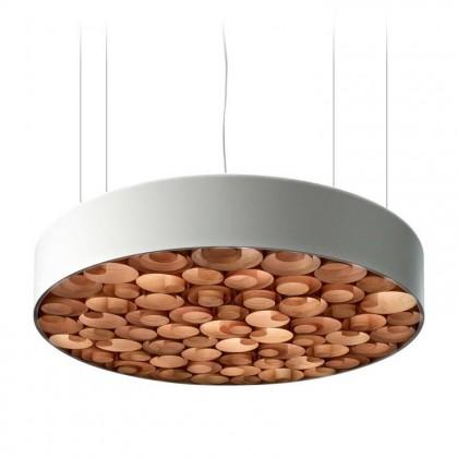 Spiro Ø96 akrylowy biały czekolada drewna - Luzifer LZF - lampa wisząca - SPRO SG W 31 - tanio - promocja - sklep