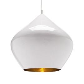 Beat Stout Ø52 biały, złoty - Tom Dixon - lampa wisząca