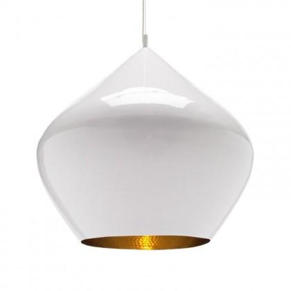 Beat Stout Ø52 biały, złoty - Tom Dixon - lampa wisząca - BLS04WH-PEUM2 - tanio - promocja - sklep