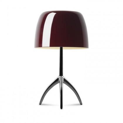 Lumiere Grande H45 chrome, czarny, wiśniowy - Foscarini - lampa biurkowa - 026011R2 62 D - tanio - promocja - sklep