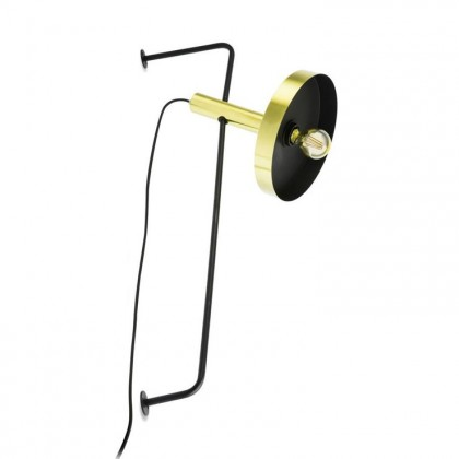 Whizz Ø25 złoty satynowy czarny wnętrze - Faro - lampa ścienna - 20163+20165 - tanio - promocja - sklep