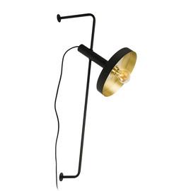 Whizz Ø25 czarny, złoty - Faro - lampa ścienna