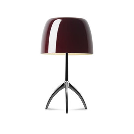 Lumiere Piccola H35 chrome, czarny, wiśniowy - Foscarini - lampa biurkowa