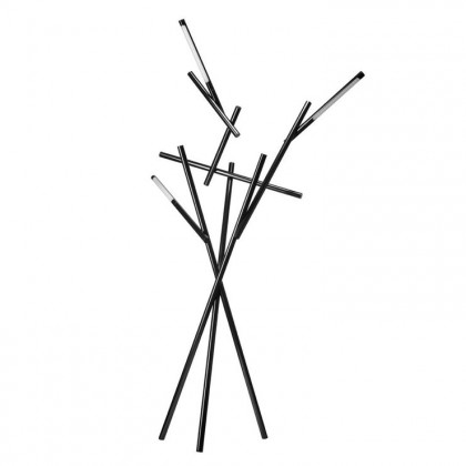 Tuareg H210 czarny, chrom - Foscarini - lampa podłogowa - 255003 78 - tanio - promocja - sklep