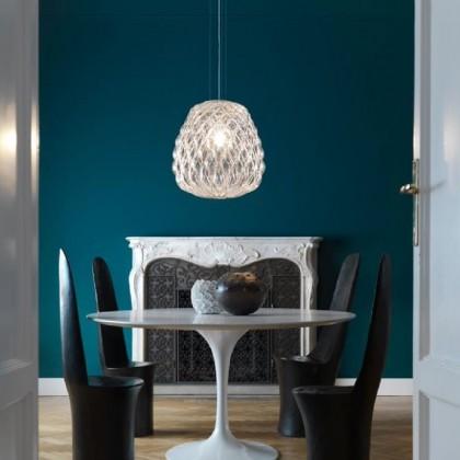 Pinecone Ø30 złoty, przezroczysty - Fontana Arte - lampa wisząca - F436385575TONE - tanio - promocja - sklep