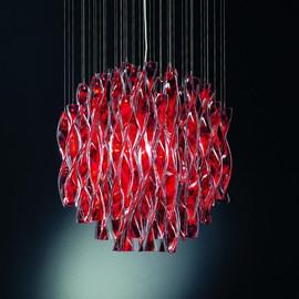 Aura Ø60 czerwony - AXO Light - lampa sufitowa