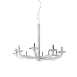 Natural Ø80 biały - De Majo - lampa sufitowa