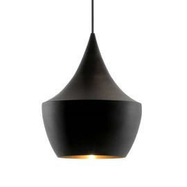 Beat Fat Ø24 czarny, złoty - Tom Dixon - lampa wisząca