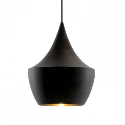 Beat Fat Ø24 czarny, złoty - Tom Dixon - lampa wisząca - BLS02-PEUM2 - tanio - promocja - sklep