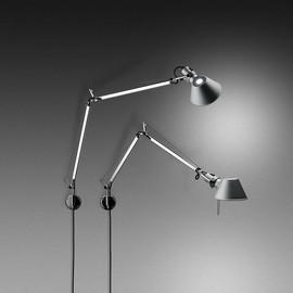 Tolomeo Mini H57 aluminium - Artemide - lampa ścienna