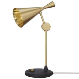 Beat Table H48 mosiądz szczotkowane złoty złoty czarny kabel wewnątrz kulki - Tom Dixon - lampa biurkowa