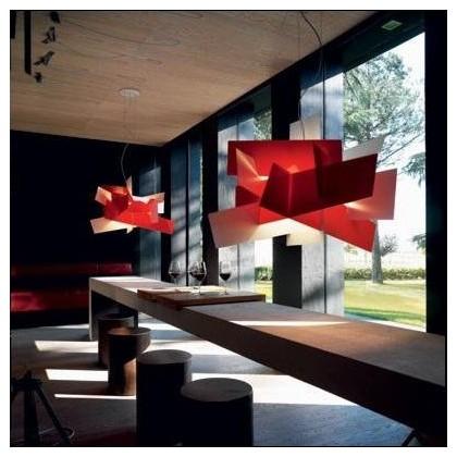 Big Bang L96 czerwony biały - Foscarini - lampa wisząca - 151007 63 - tanio - promocja - sklep