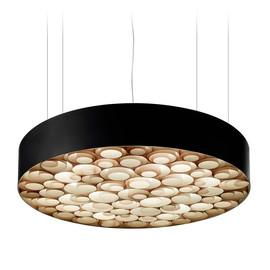 Spiro Ø96 czarny, drewno - Luzifer LZF - lampa wisząca