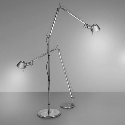 Tolomeo Floor H112-226 aluminium - Artemide - lampa biurkowa - A001000 + A12820 - tanio - promocja - sklep