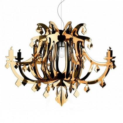 Ginetta Ø78 złoty - Slamp - lampa sufitowa - GIN14SOS0000O - tanio - promocja - sklep