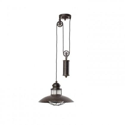 Winch Ø35 brąz patynowany - Faro - lampa wisząca - 66205 - tanio - promocja - sklep