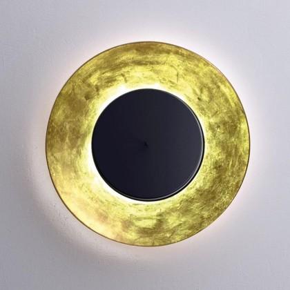 Lunaire Ø75 złoty, czarny - Fontana Arte - lampa ścienna - 4246OO/N - tanio - promocja - sklep