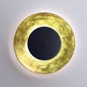 Lunaire Ø75 złoty, czarny - Fontana Arte - lampa ścienna