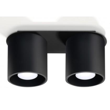 Plafon ORBIS 2 Czarny - Sollux - SL.0054 - tanio - promocja - sklep