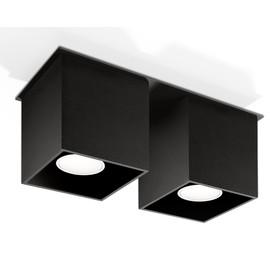 Plafon QUAD 2 Czarny - Sollux