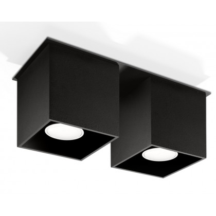 Plafon QUAD 2 Czarny - Sollux - SL.0063 - tanio - promocja - sklep