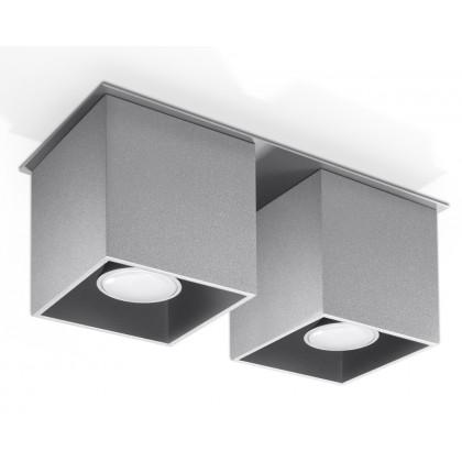 Plafon QUAD 2 Szary - Sollux - SL.0064 - tanio - promocja - sklep