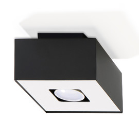 Plafon MONO 1 Czarny - Sollux