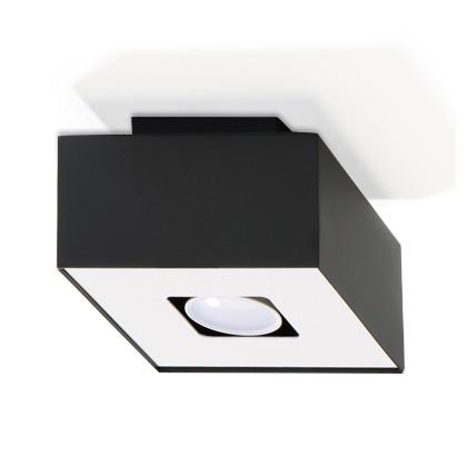 Plafon MONO 1 Czarny - Sollux - SL.0070 - tanio - promocja - sklep