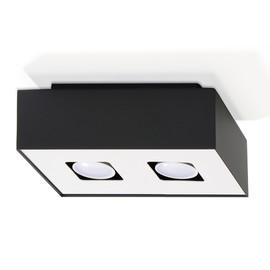 Plafon MONO 2 Czarny - Sollux