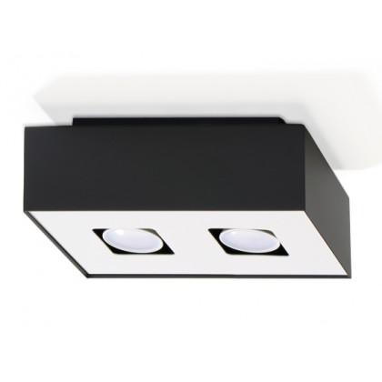 Plafon MONO 2 Czarny - Sollux - SL.0071 - tanio - promocja - sklep