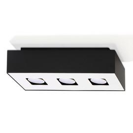 Plafon MONO 3 Czarny - Sollux