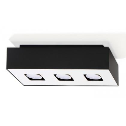 Plafon MONO 3 Czarny - Sollux - SL.0072 - tanio - promocja - sklep