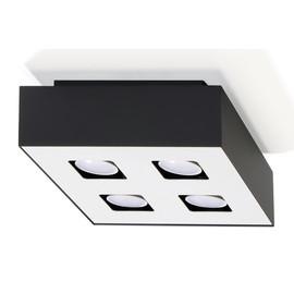 Plafon MONO 4 Czarny - Sollux