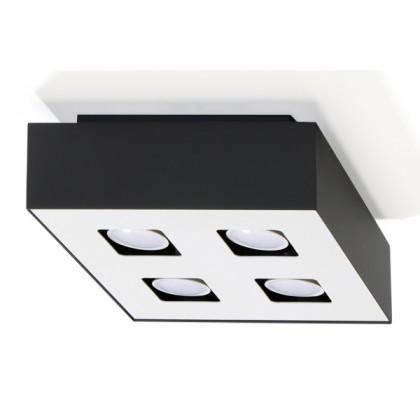 Plafon MONO 4 Czarny - Sollux - SL.0073 - tanio - promocja - sklep
