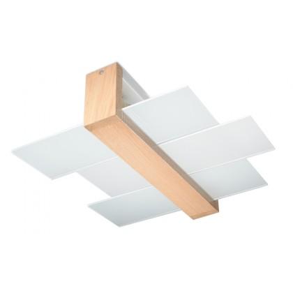 Plafon FENIKS 2 Naturalne Drewno - Sollux - SL.0076 - tanio - promocja - sklep