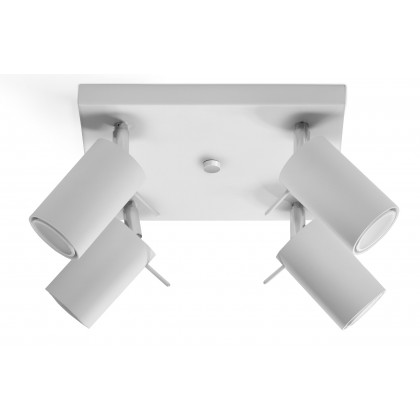 Plafon RING 4 Biały - Sollux - SL.0090 - tanio - promocja - sklep
