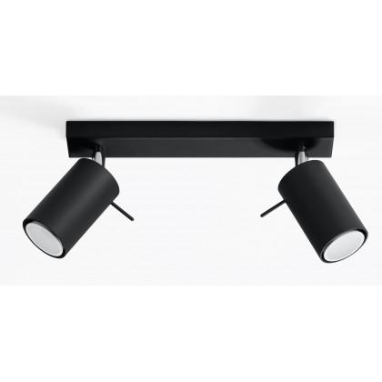 Plafon RING 2 Czarny - Sollux - SL.0092 - tanio - promocja - sklep