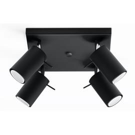 Plafon RING 4 Czarny - Sollux