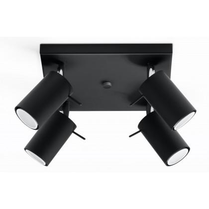 Plafon RING 4 Czarny - Sollux - SL.0094 - tanio - promocja - sklep