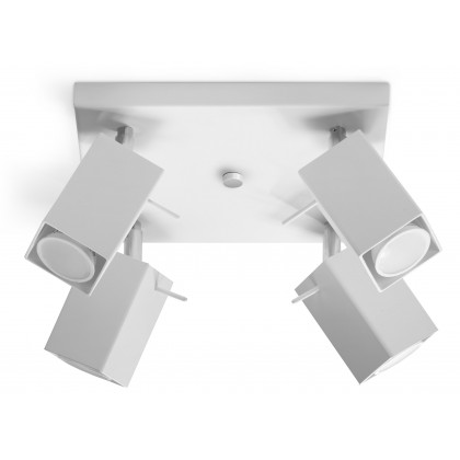 Plafon MERIDA 4 Biały - Sollux - SL.0098 - tanio - promocja - sklep