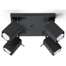Plafon MERIDA 4 Czarny - Sollux