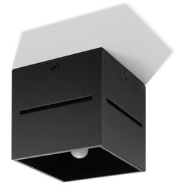 Plafon LOBO Czarny - Sollux