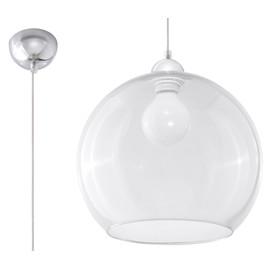 Lampa Wisząca BALL Transparentny - Sollux